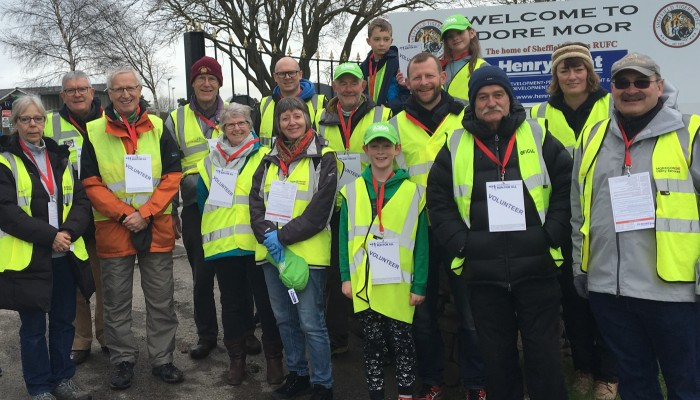 STRUFC Volunteers at Sheffield Half Marathon 2018